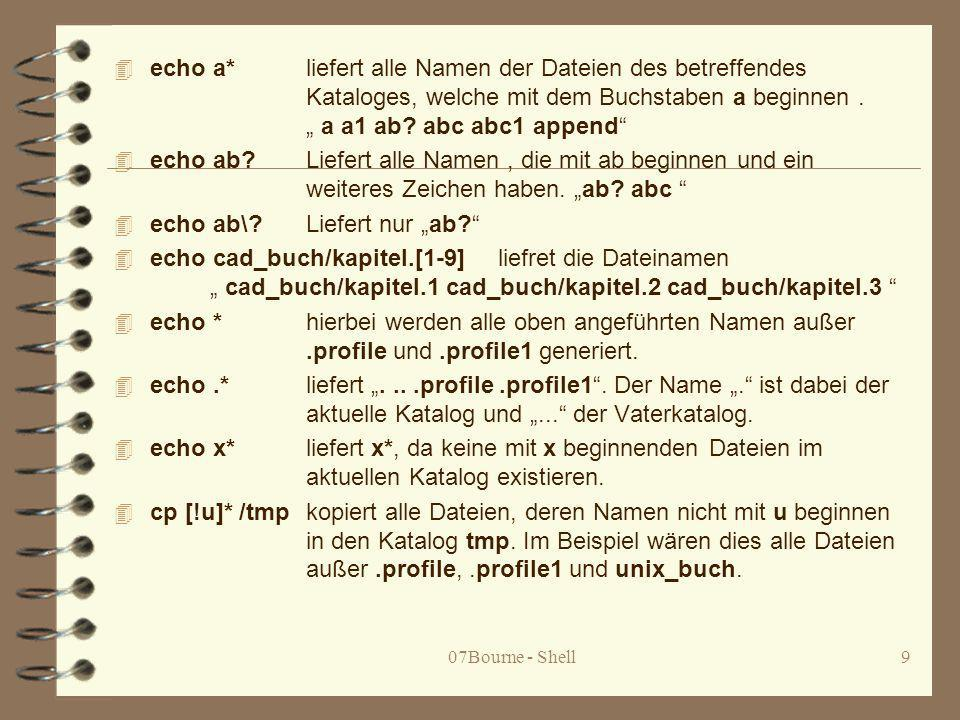 """echo ab\ Liefert nur """"ab"""