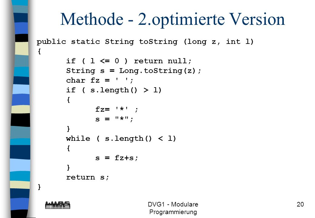 Methode - 2.optimierte Version