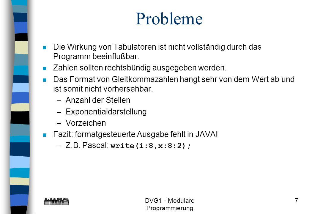 DVG1 - Modulare Programmierung