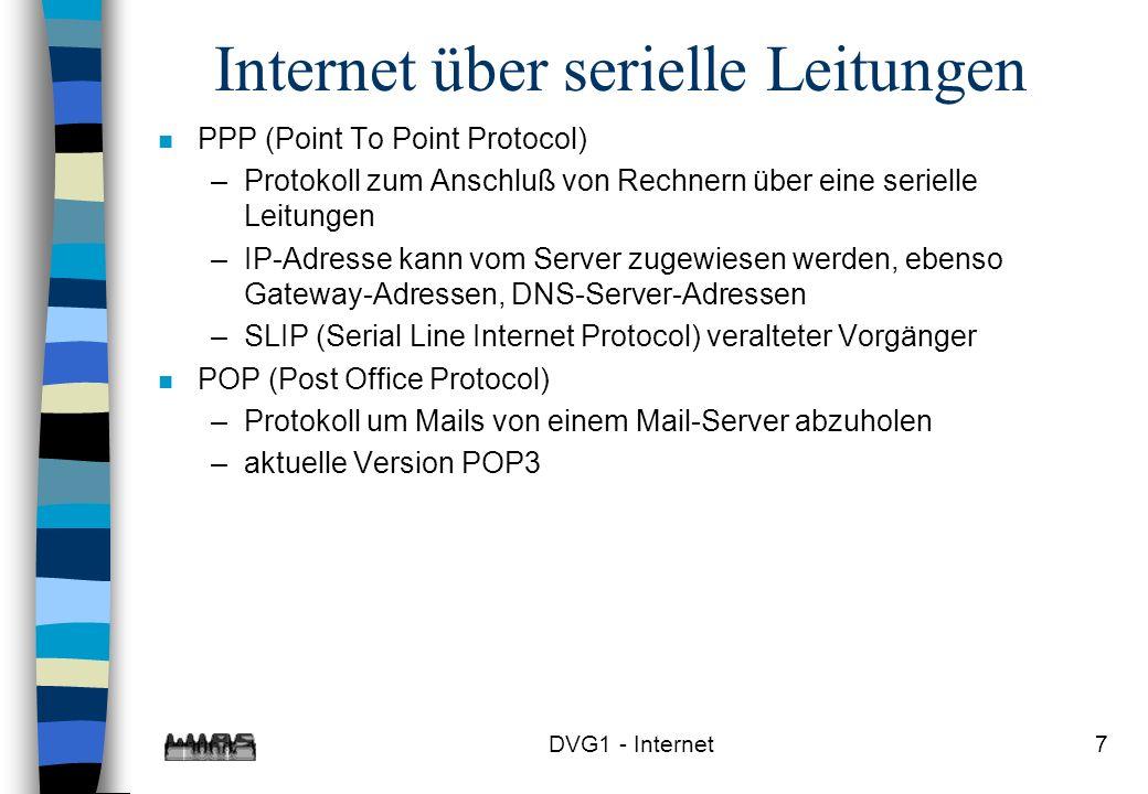 Internet über serielle Leitungen