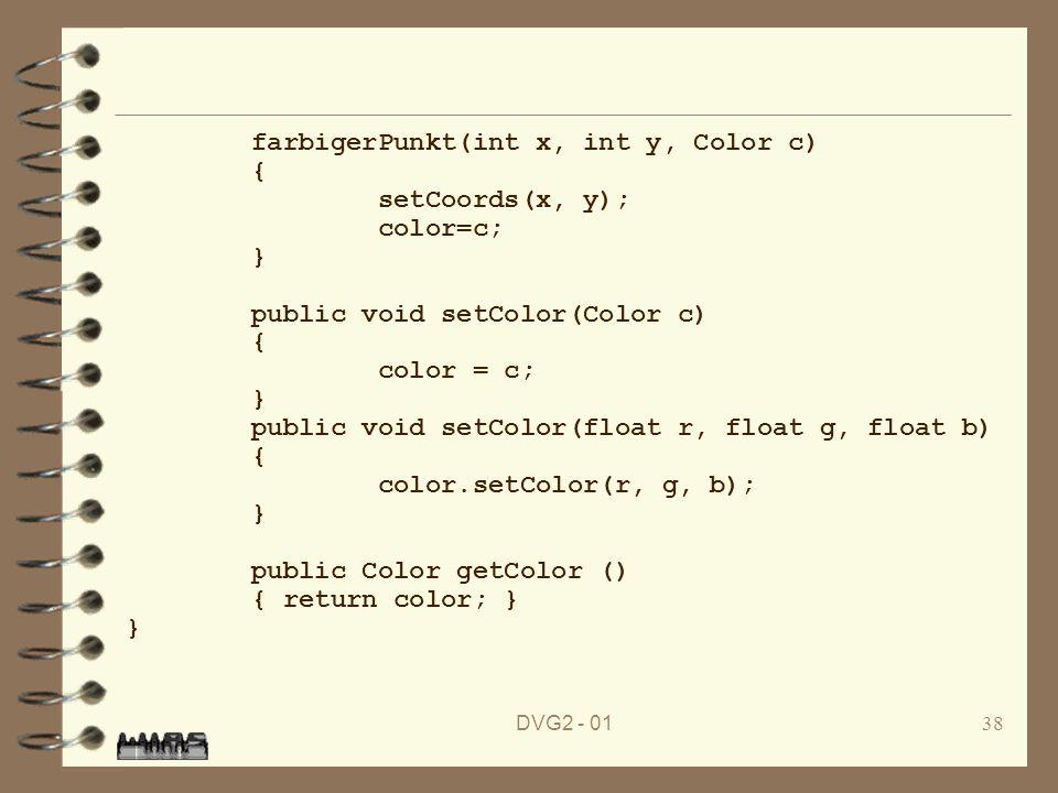 farbigerPunkt(int x, int y, Color c) { setCoords(x, y); color=c; }