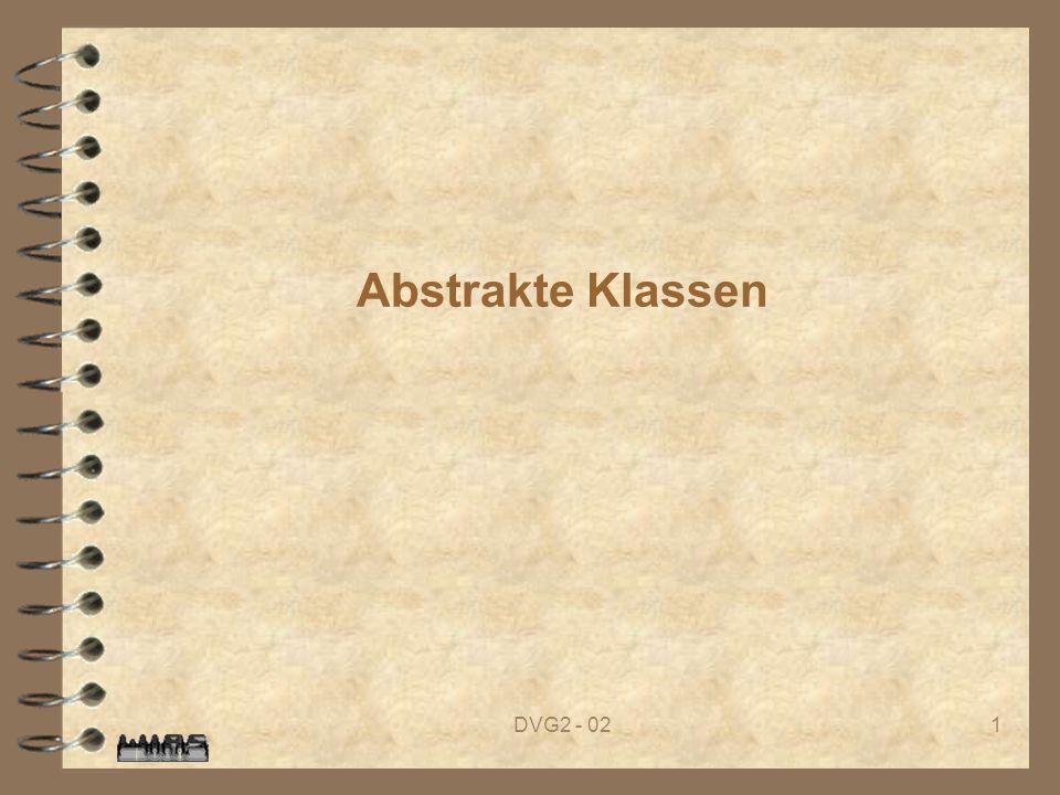 Abstrakte Klassen DVG2 - 02