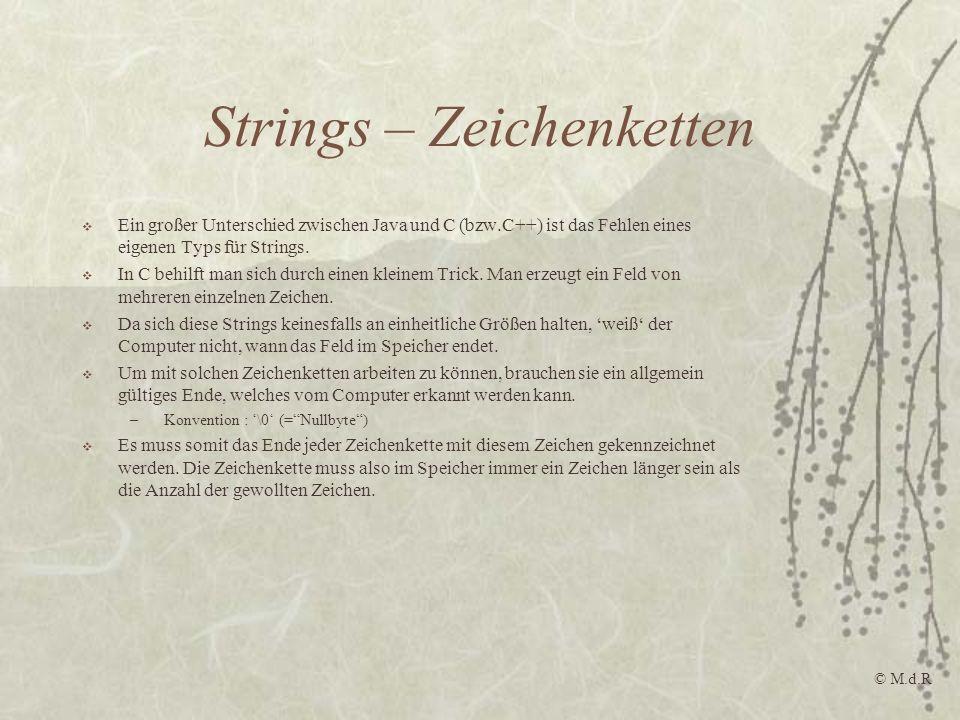 Strings – Zeichenketten