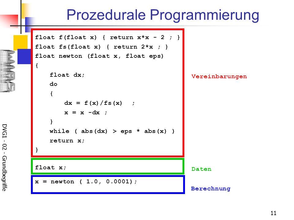 Prozedurale Programmierung