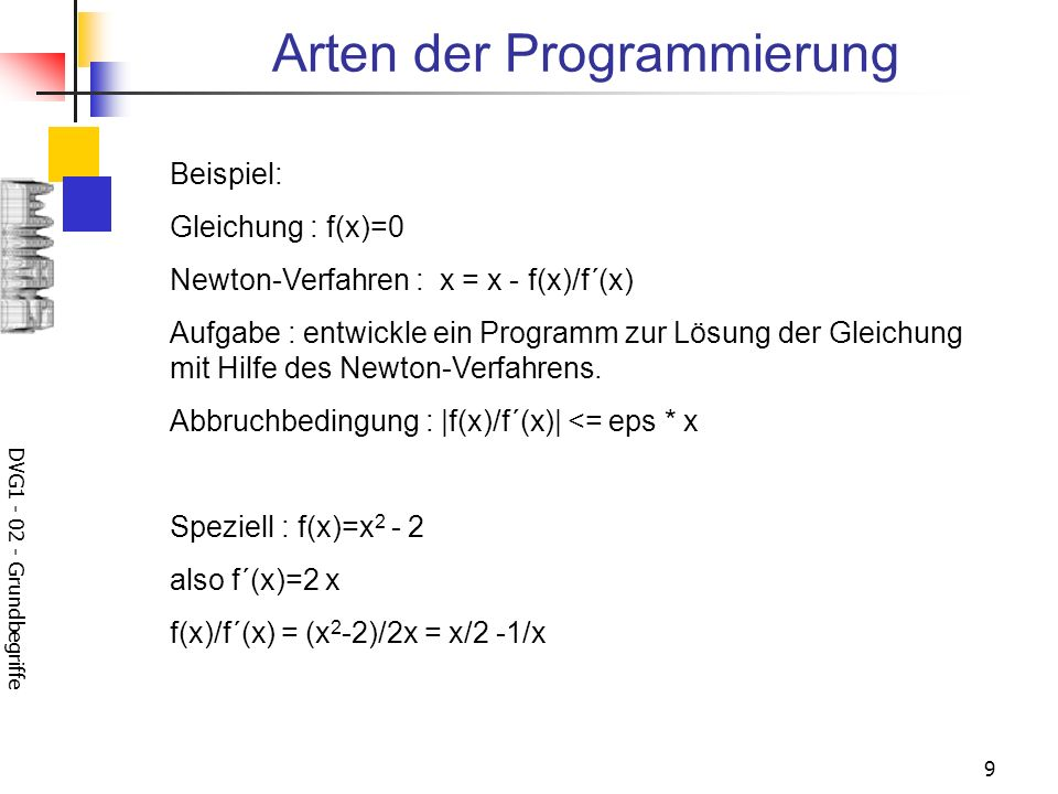 Arten der Programmierung