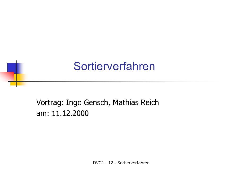 Vortrag: Ingo Gensch, Mathias Reich am: 11.12.2000