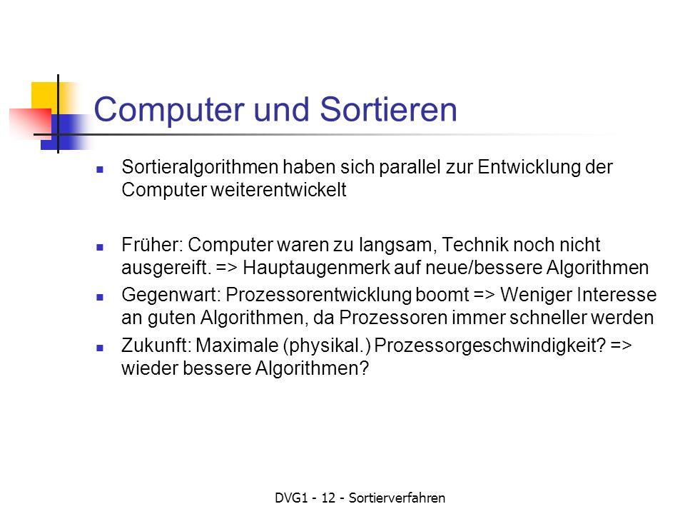 Computer und Sortieren
