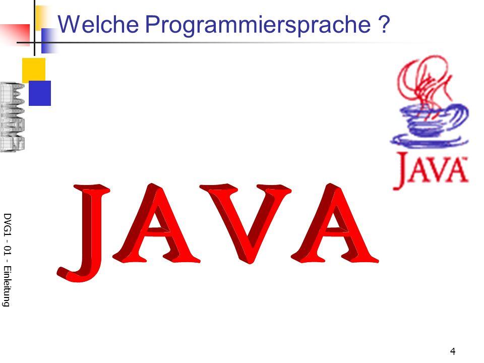 Welche Programmiersprache