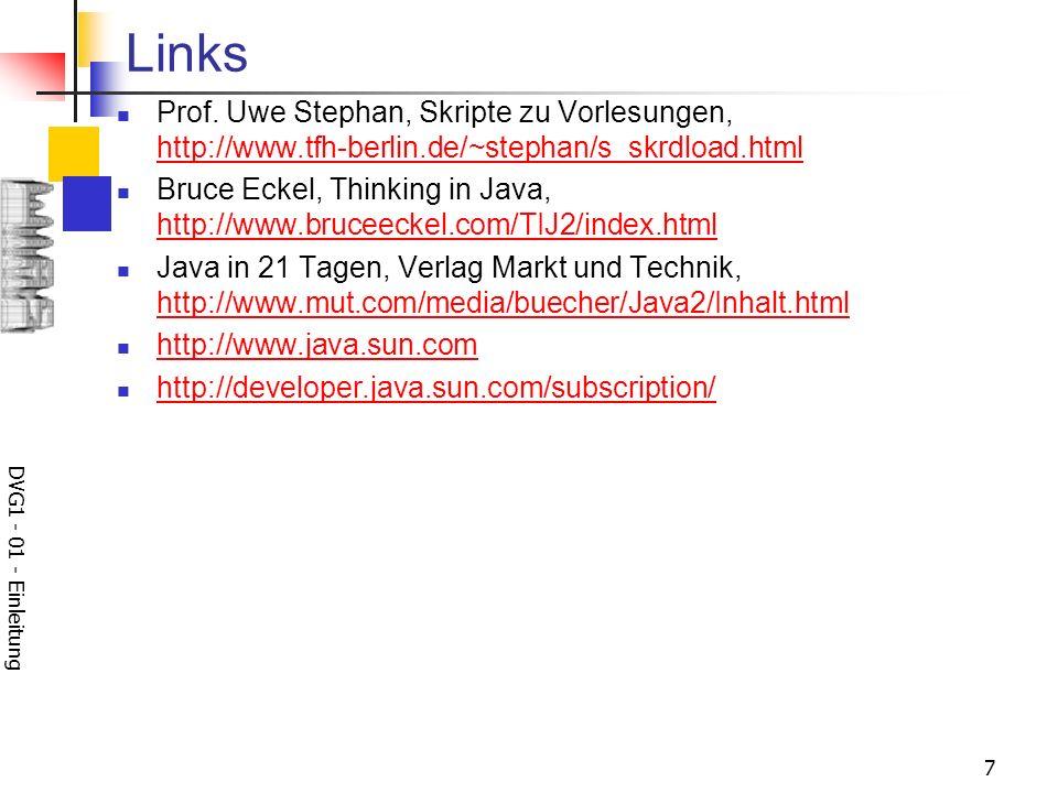 Links Prof. Uwe Stephan, Skripte zu Vorlesungen, http://www.tfh-berlin.de/~stephan/s_skrdload.html.