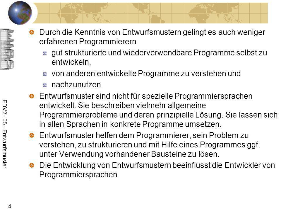 von anderen entwickelte Programme zu verstehen und nachzunutzen.