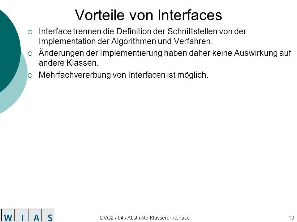 Vorteile von Interfaces