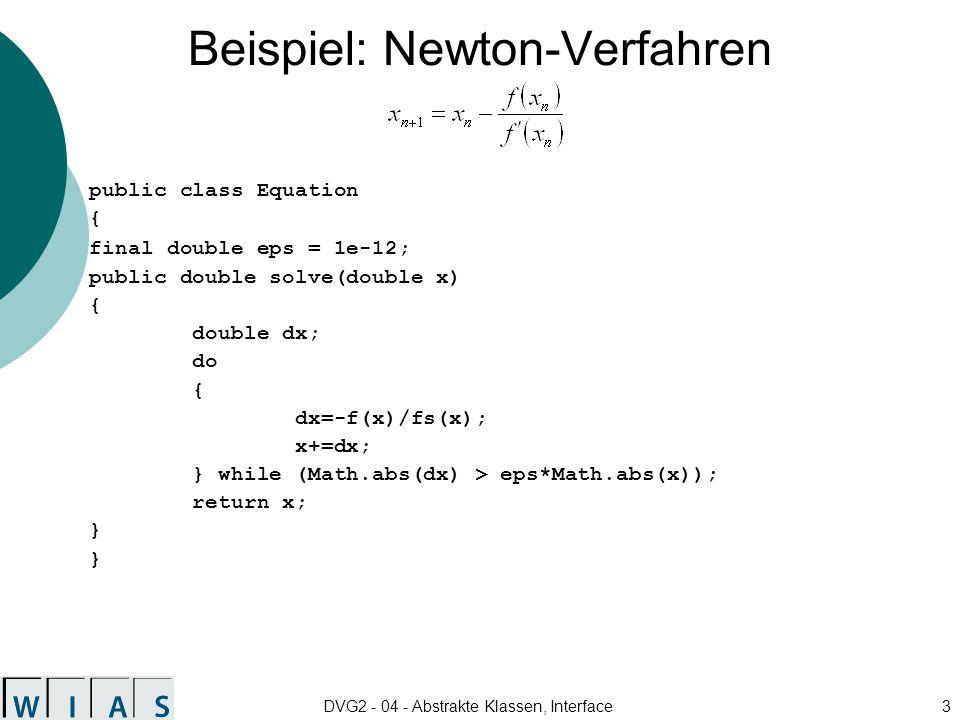 Beispiel: Newton-Verfahren