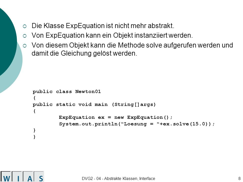 DVG2 - 04 - Abstrakte Klassen, Interface