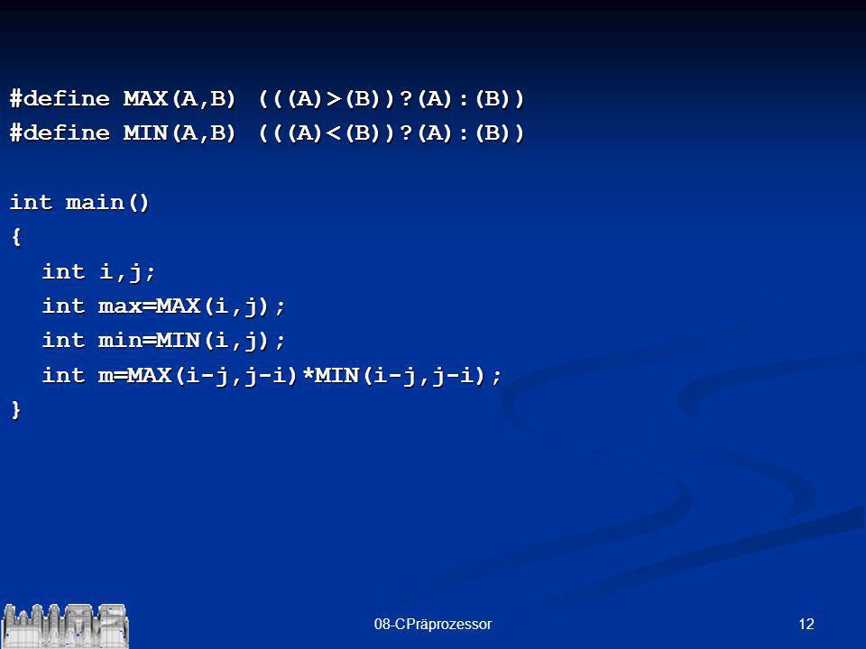 #define MAX(A,B) (((A)>(B)) (A):(B))