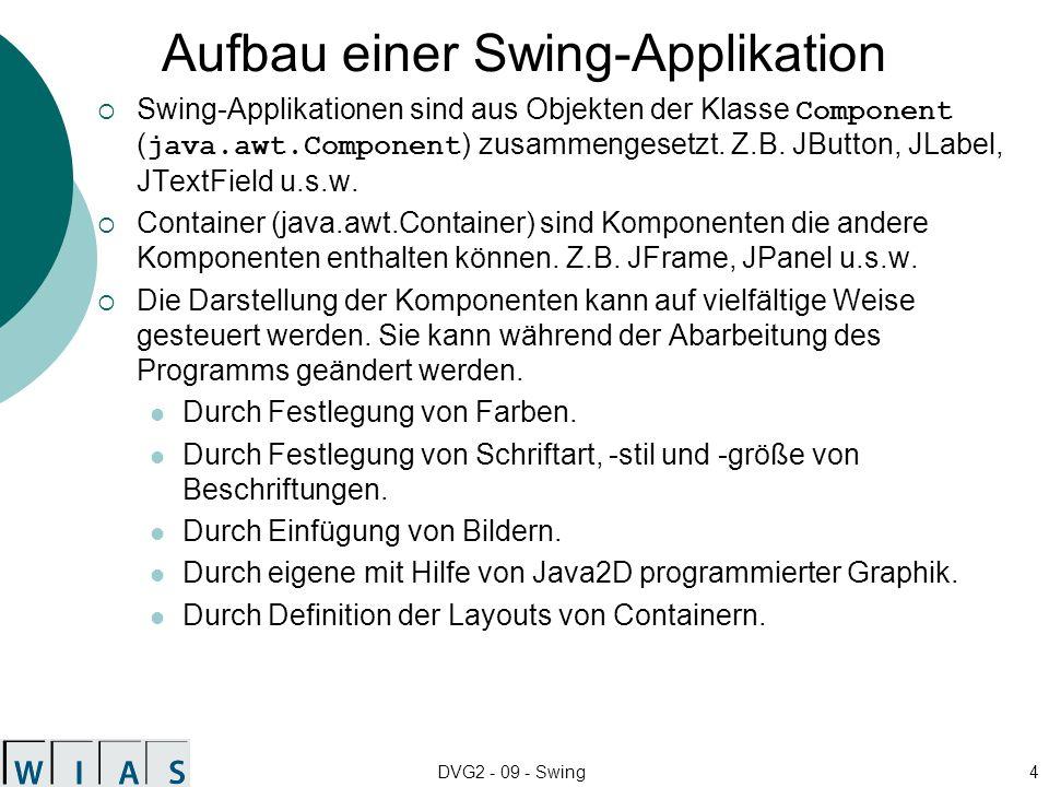 Aufbau einer Swing-Applikation