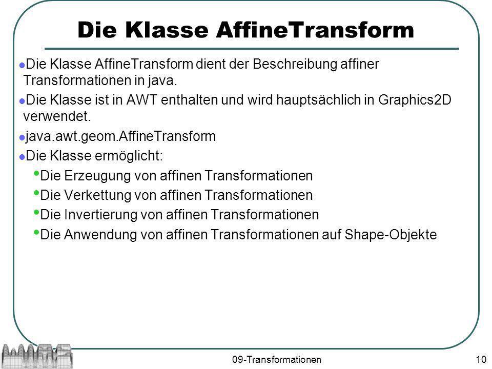 Die Klasse AffineTransform