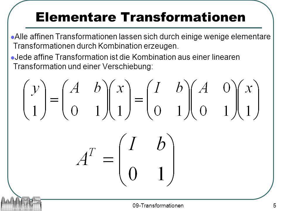Elementare Transformationen