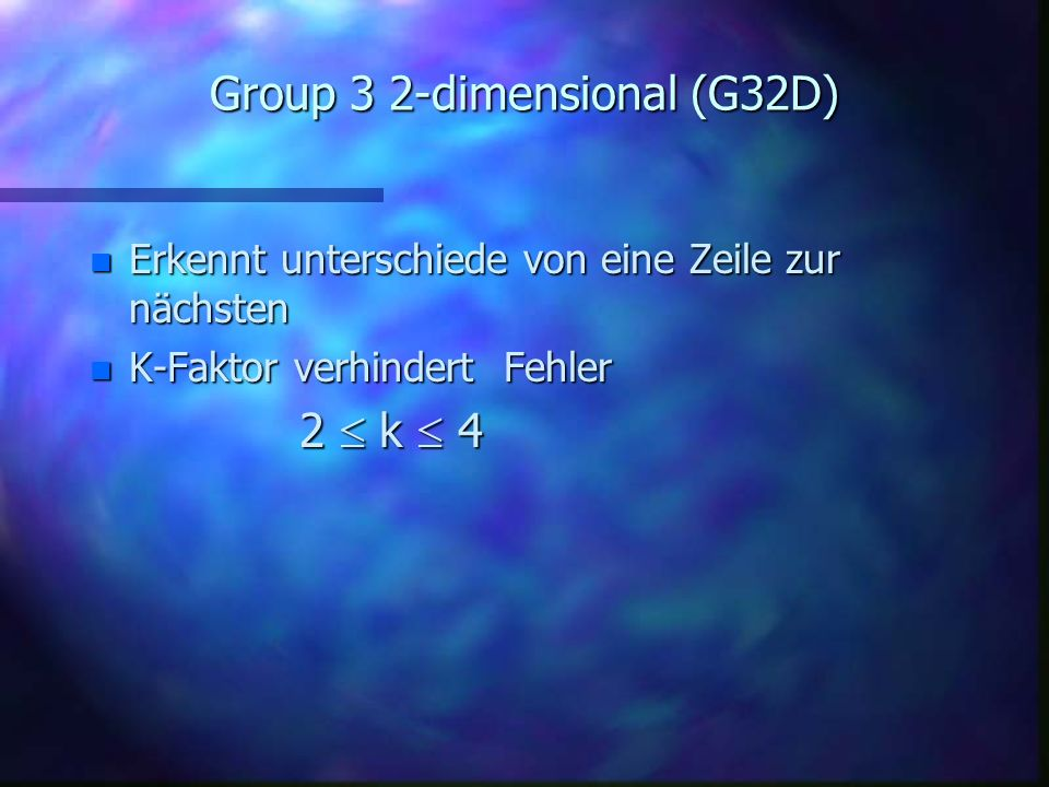 Group 3 2-dimensional (G32D)