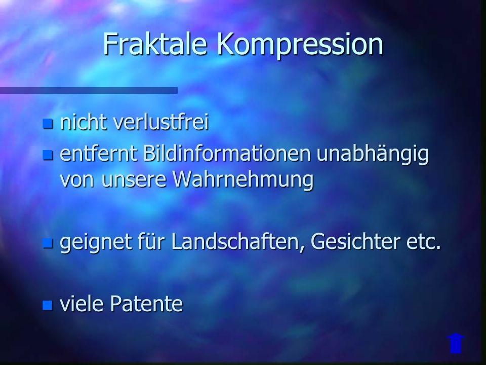 Fraktale Kompression nicht verlustfrei