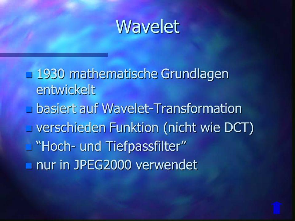 Wavelet 1930 mathematische Grundlagen entwickelt