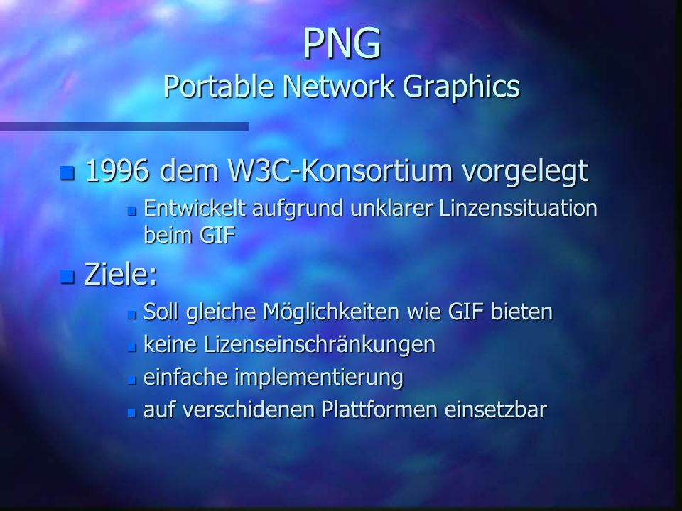PNG Portable Network Graphics