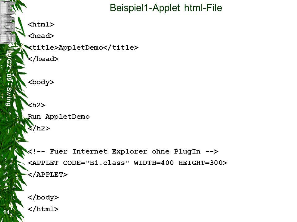 Beispiel1-Applet html-File