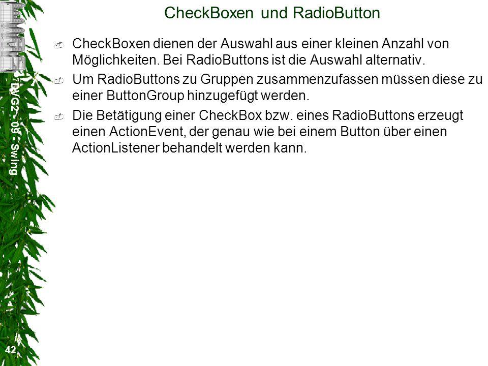 CheckBoxen und RadioButton
