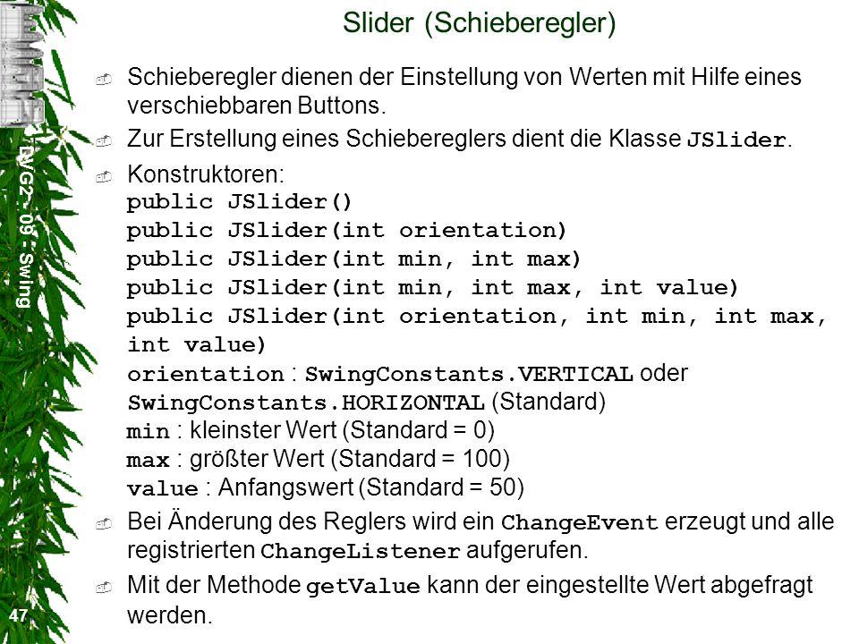 Slider (Schieberegler)