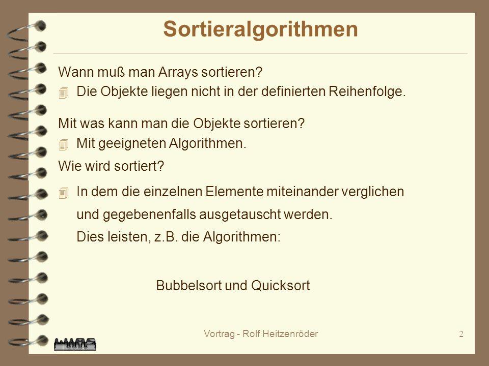 Vortrag - Rolf Heitzenröder