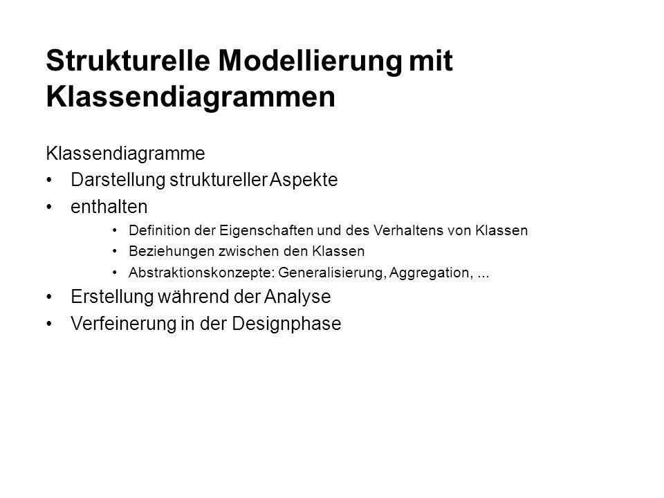 Strukturelle Modellierung mit Klassendiagrammen