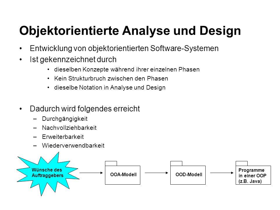 Objektorientierte Analyse und Design