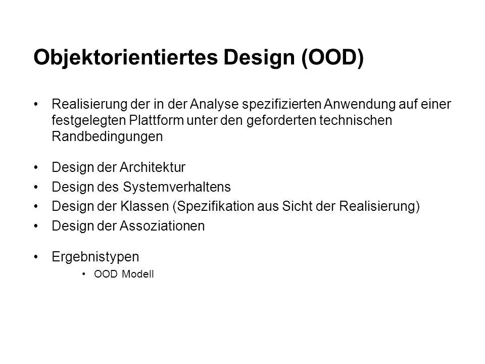 Objektorientiertes Design (OOD)