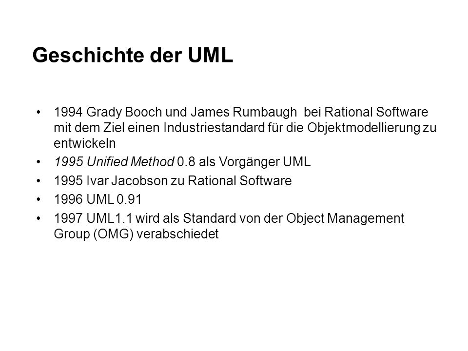 Geschichte der UML