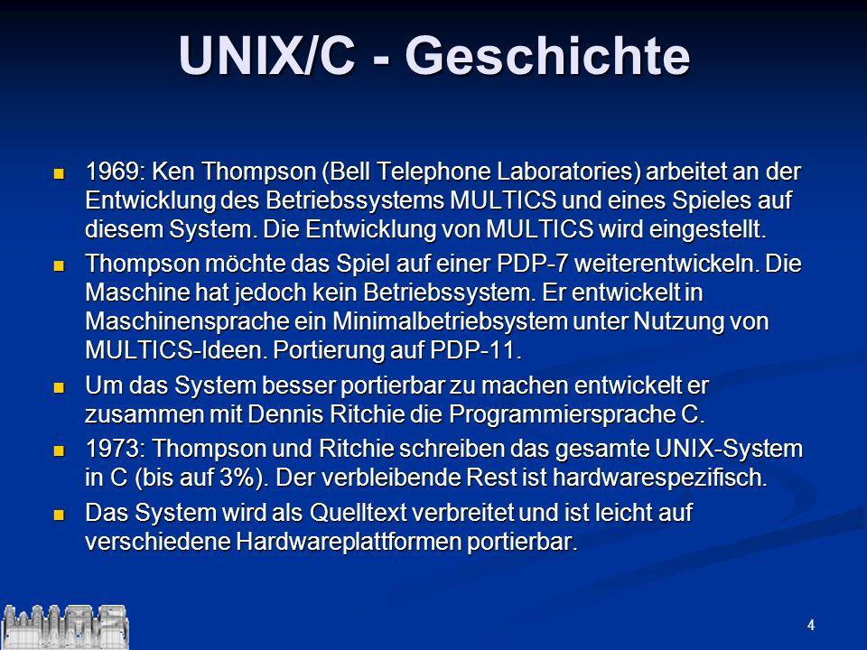 UNIX/C - Geschichte
