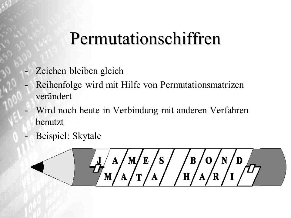 Permutationschiffren