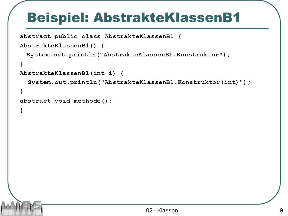 Beispiel: AbstrakteKlassenB1