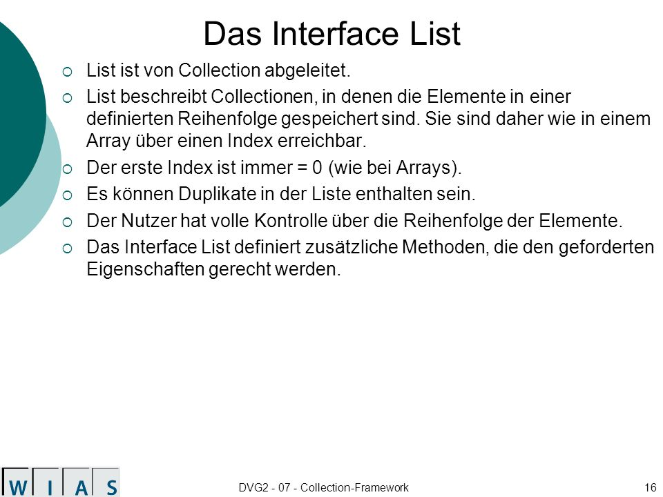DVG2 - 07 - Collection-Framework