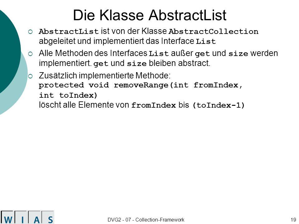 Die Klasse AbstractList