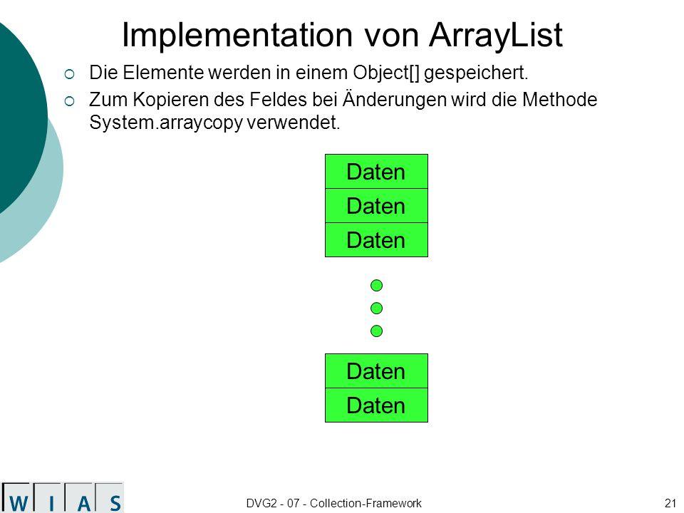 Implementation von ArrayList