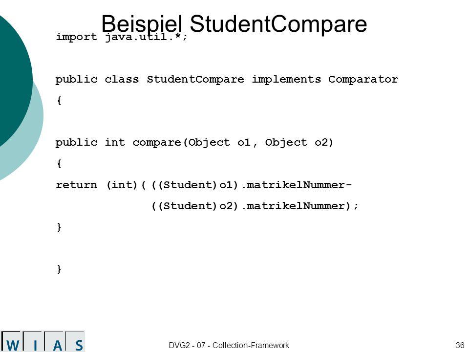 Beispiel StudentCompare
