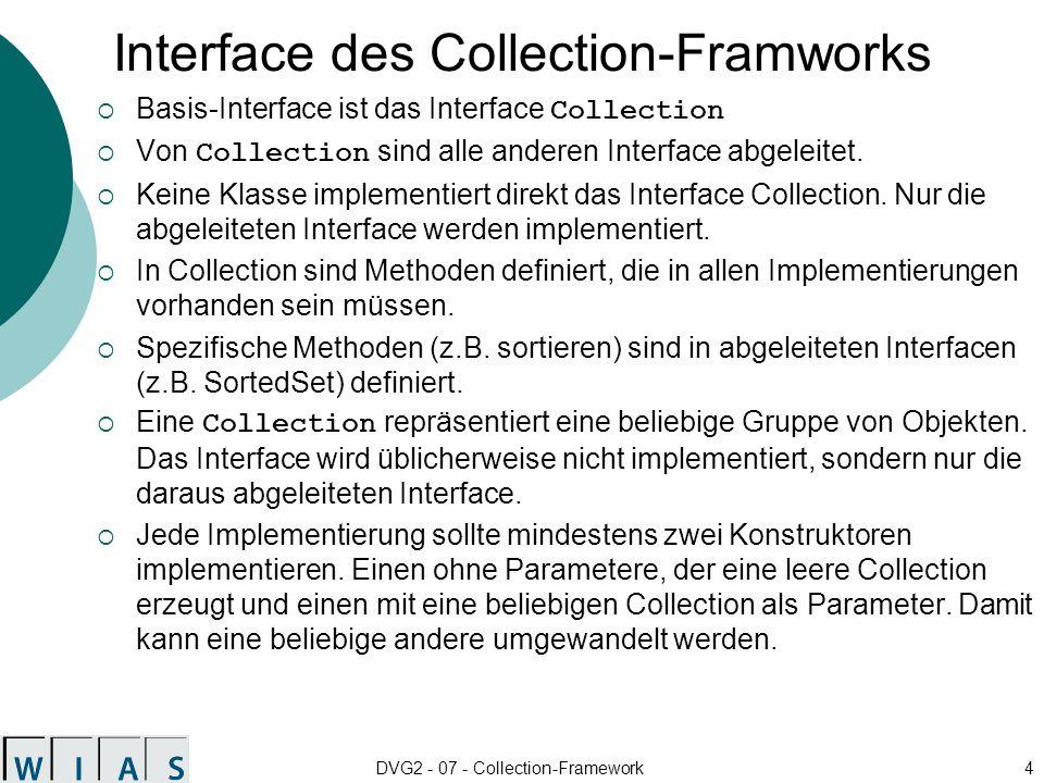 Interface des Collection-Framworks
