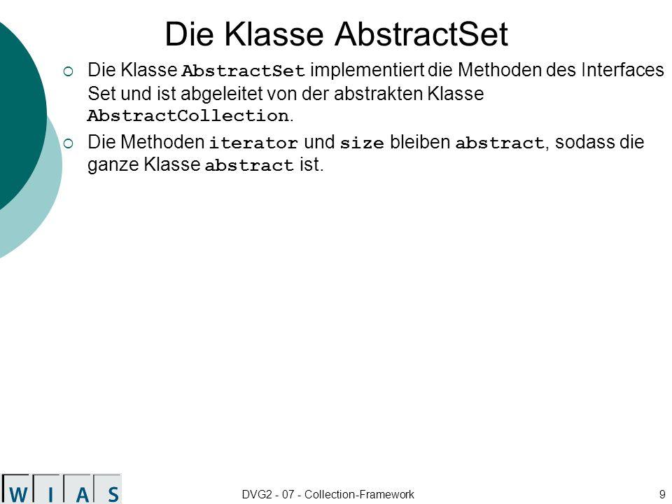 Die Klasse AbstractSet