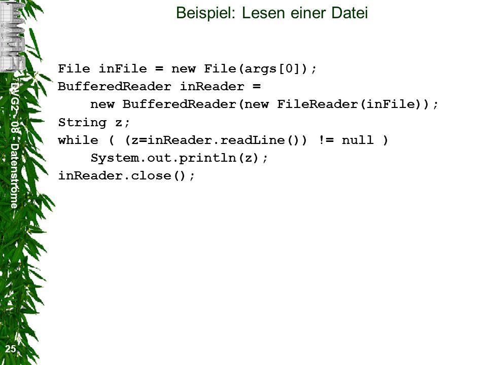 Beispiel: Lesen einer Datei