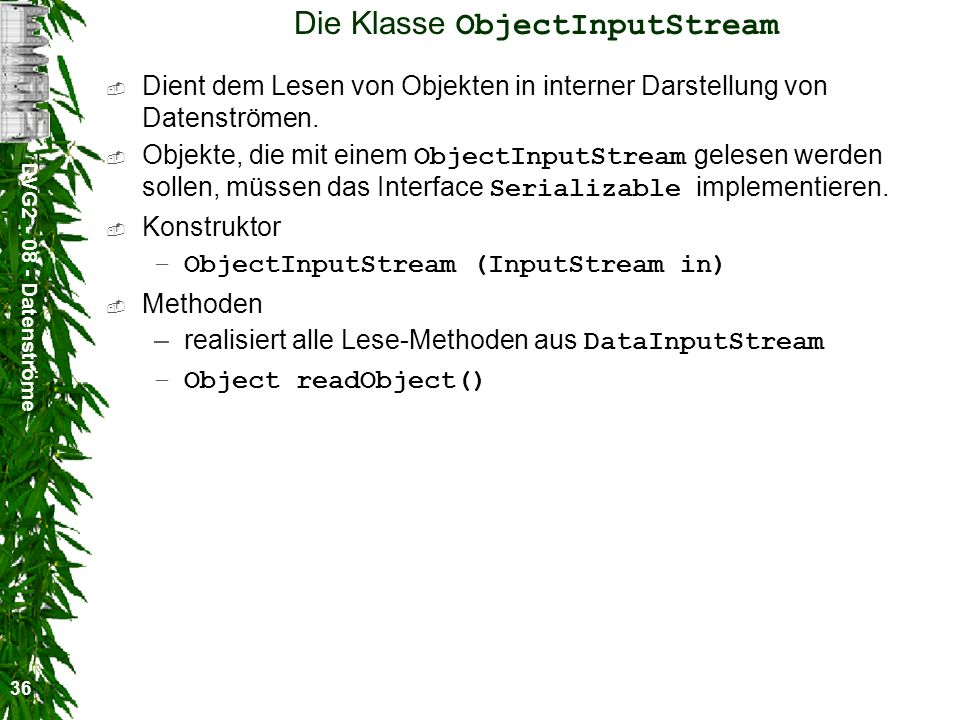 Die Klasse ObjectInputStream