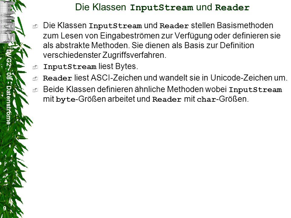 Die Klassen InputStream und Reader