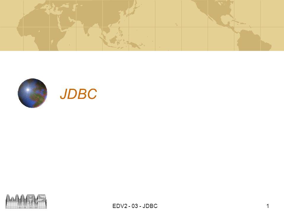JDBC EDV2 - 03 - JDBC