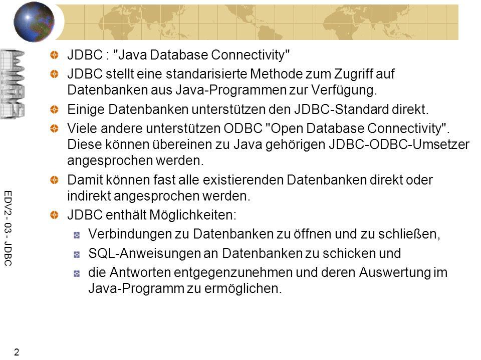 JDBC : Java Database Connectivity