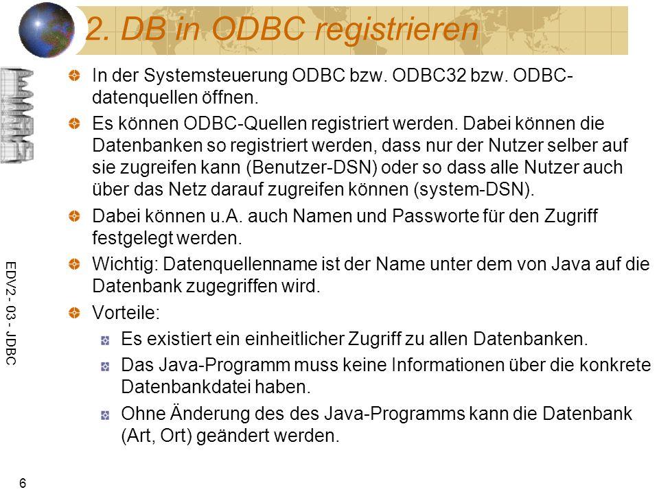 2. DB in ODBC registrieren