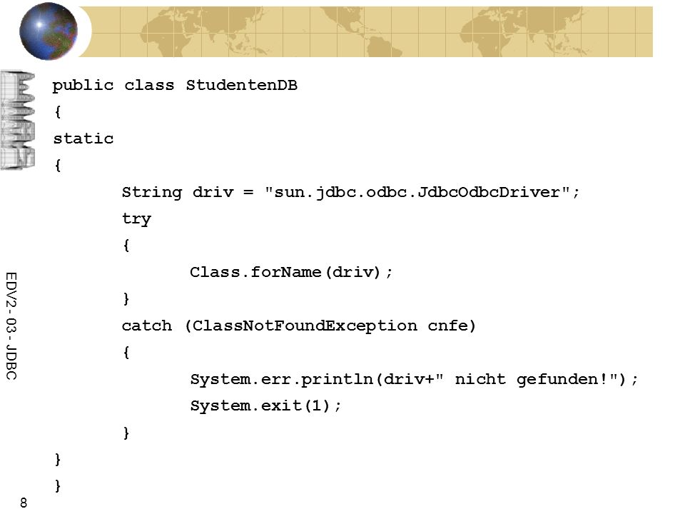 public class StudentenDB { static