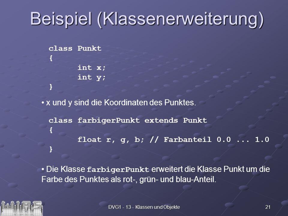 Beispiel (Klassenerweiterung)